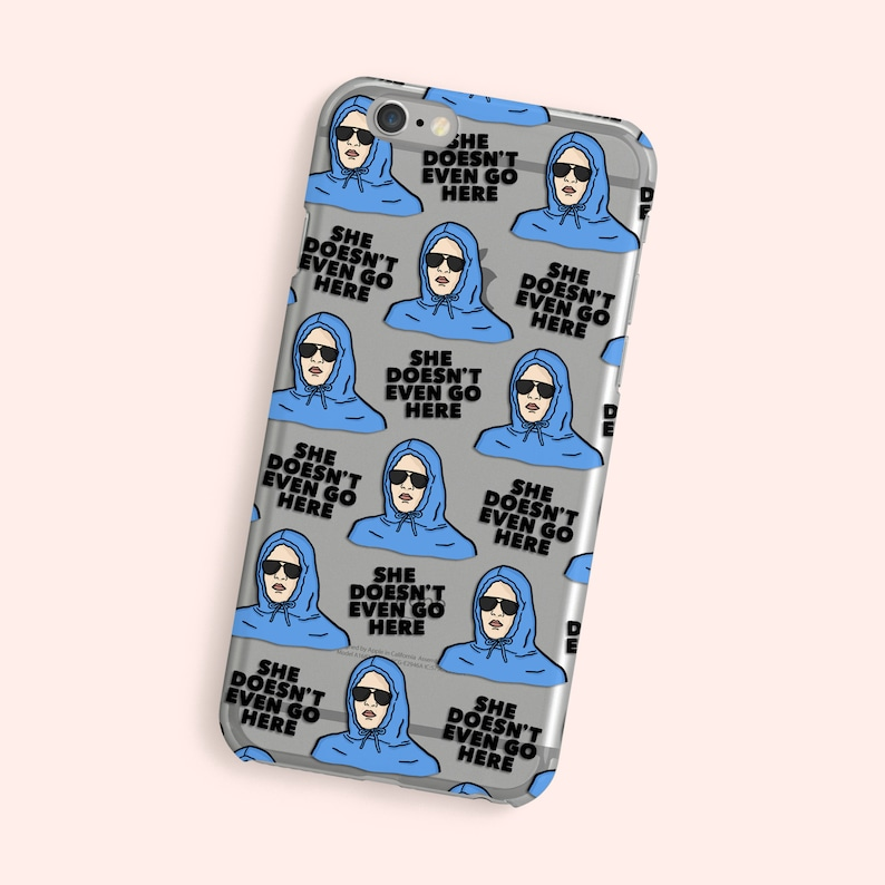 hot sale online 4232f 788f7 Mean Girls iPhone Case - She Doesnt Even Go Here - Damien Mean Girls -  Movie Phone Cover - Gift For Friend - Transparent Case - iPhone XS