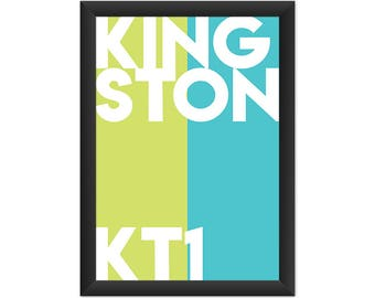 Kingston Typography KT1 - Giclée Art Print - South London Poster