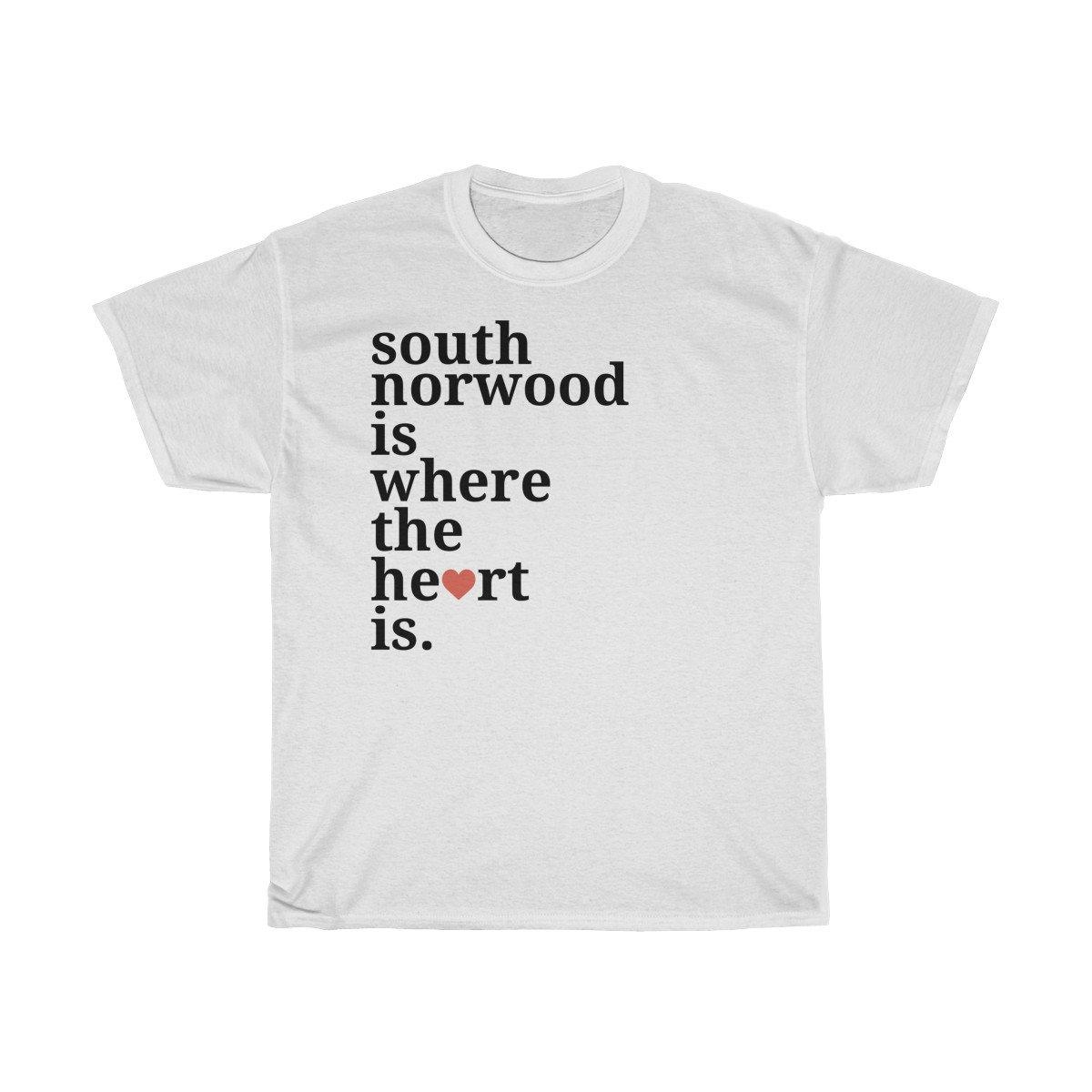 Norwood du est sud est où le coeur est du T-Shirt 11b747