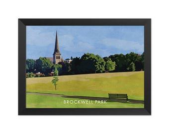 Brockwell Park - Giclée Art Print - South London Poster