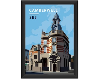 Camberwell Surgery SE5 - Giclée Art Print - South London Poster