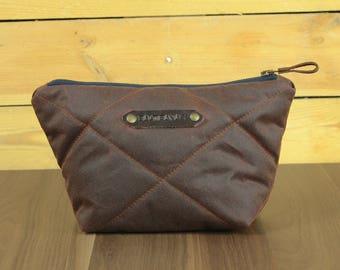 Waxed Canvas Dopp Kit-Travel kit for men-Unisex Dopp Kit-Shave Kit-Travel Bag-Mens toiletry bag-Makeup bag-toiletries.