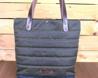 3fe441dc5c Waxed Canvas Tote Bag