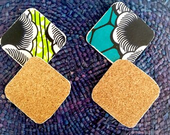 Turquoise wax and Cork coasters