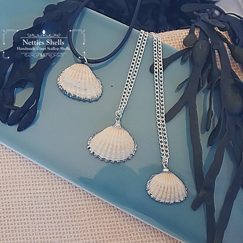 White Clam Shell Necklace xmas Sea shell Jewellery Sea Shell Necklace Beach Hippie Boho Jewellery Shell Jewellery Christmas Gift
