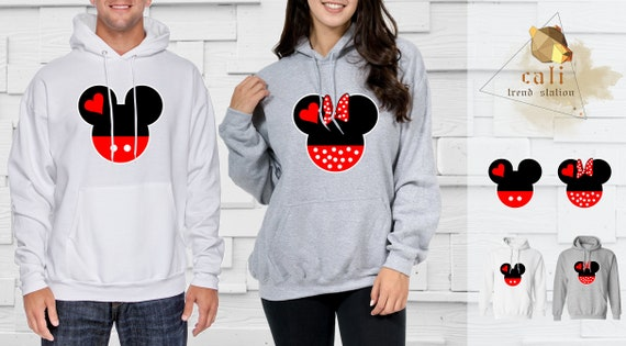 Mickey and minnie mouse couple hoodies
