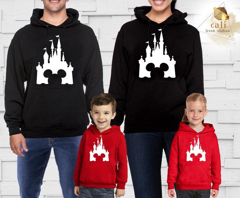 Disney Trip Castle Design Mickey Minnie Womens Hoodie Sweatshirt