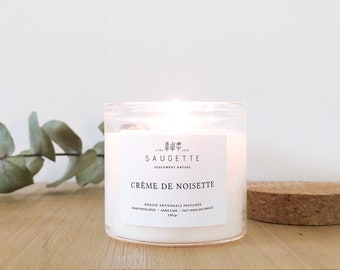 Hazelnut Cream - Handcrafted candle scented with natural soy wax