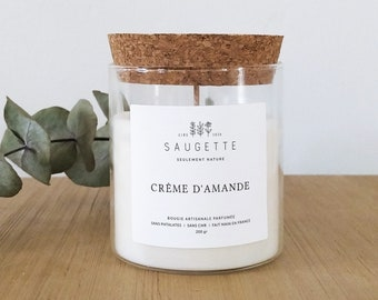 Almond cream - Homemade candle scented with natural soy wax