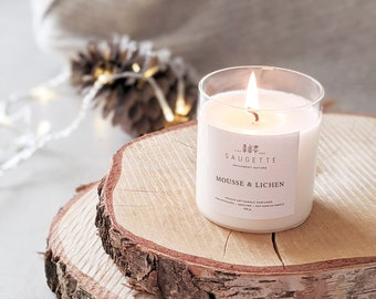 Moss - lichen - Handcrafted candle scented with natural soy wax