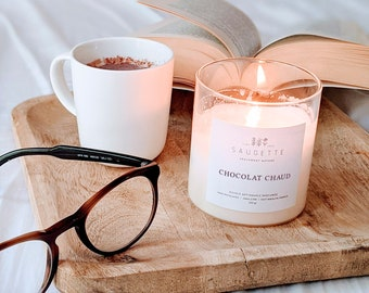 Hot chocolate - Craft candle scented with natural soy wax