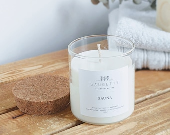 Sauna - Craft candle scented with natural soy wax