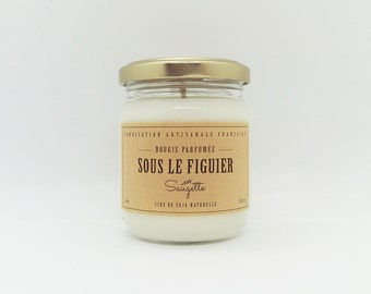 Under the fig tree - handcrafted scented soy wax candle