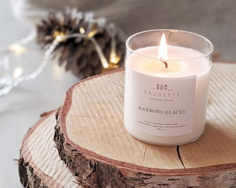 Iced Maroons - Handcrafted candle scented with natural soy wax