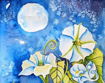 Moonflowers Painting