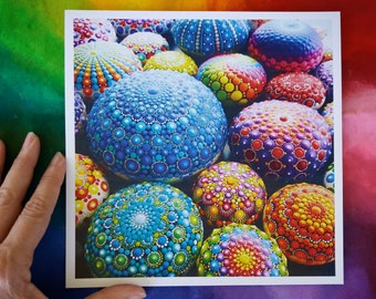 "Print made with of  Valeria Campagna's original painting ""Mandala Stones"""