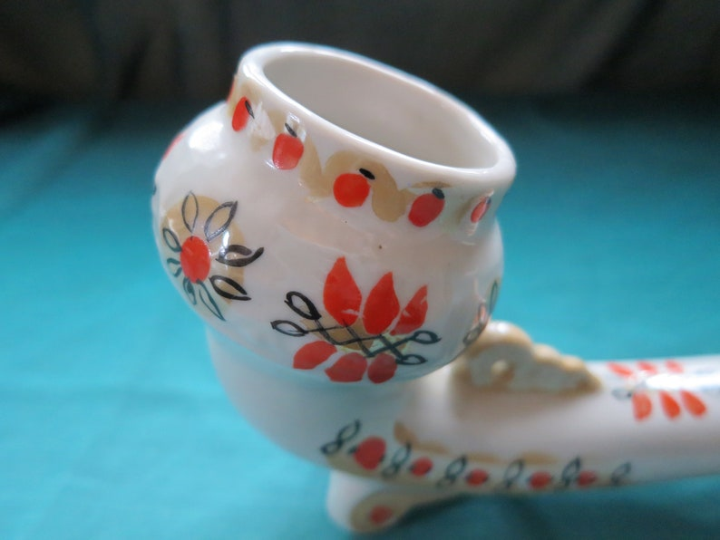 Decorative Hand-Painted Vintage Porcelain Pipe Bowl