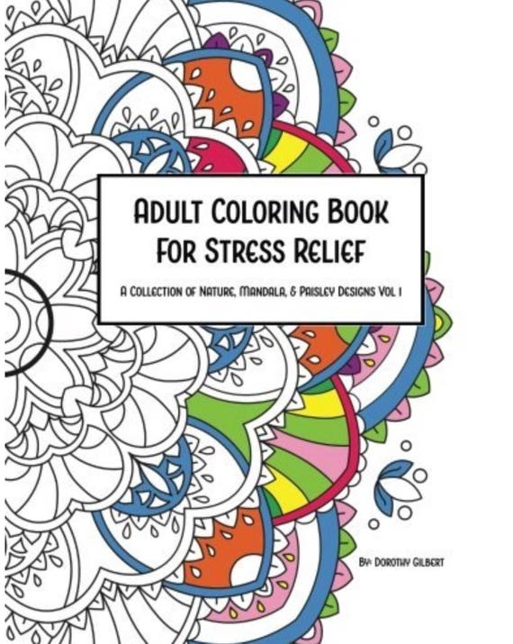 - Mandala Flower Adult Stress Relief Coloring Book Etsy