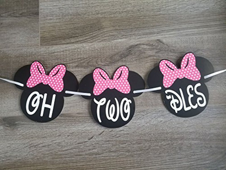 OH TWO DLES Banner 2nd Minnie Mouse Party Supplies