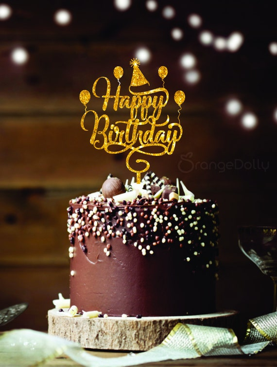 Astonishing Happy Birthday Cake Topper Etsy Personalised Birthday Cards Petedlily Jamesorg
