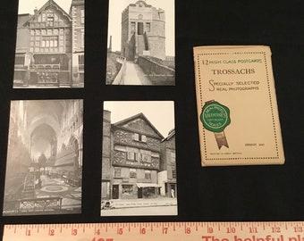 11 x High Class Postcards – Bromotone – Valentine's – Chester - 1920s