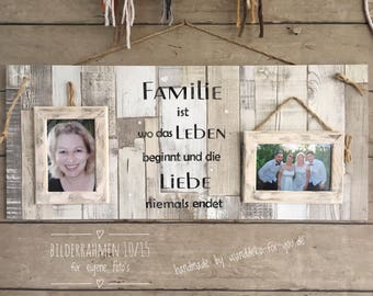 Family is... for your own photos and picture frames, with shabby painting