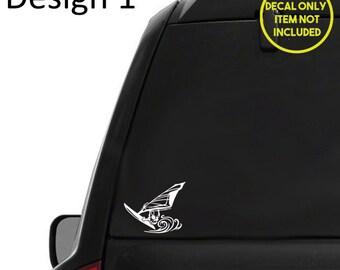 Born to windsurf sticker,car windsurfing Vinyl Decal