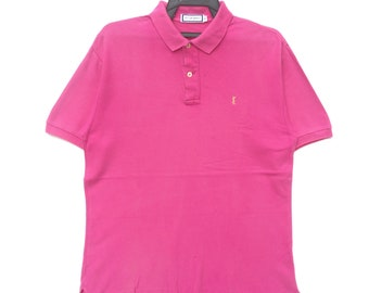9629abf1595 Vintage 90s YSL Yves Saint Laurent Pink Colour Polo | Yves Saint Laurent  Spell Out | Designer Fashion Retro Rap Tee Hip Hop Swag Street Wear