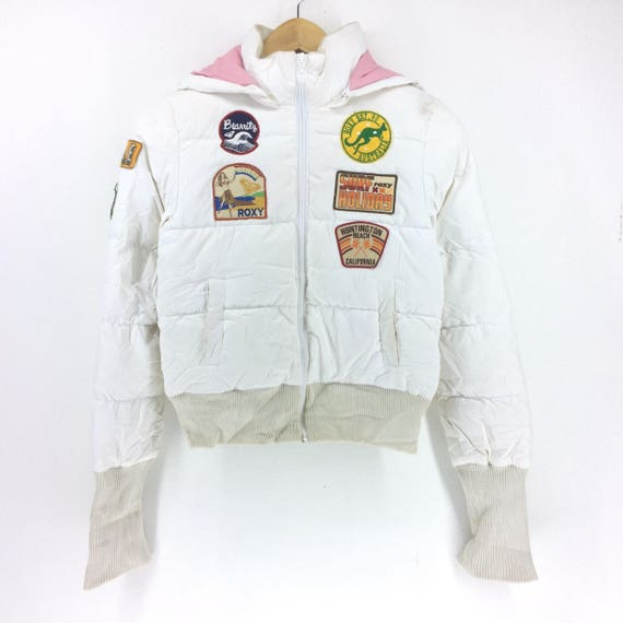 Activewear Fashion Designer Patch Hot Hip Surf Puffy Colour ItemRoxy Puffer Swag Winter Hop JacketWhite Streetwear GzVqUMpS