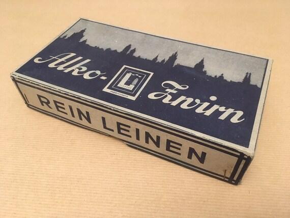 Le fil de lin VINTAGE VINTAGE lin / 10 bobines Nm 50/3 marque Lipfert, Allemagne / naturel / 1960 ' s 2f75a5