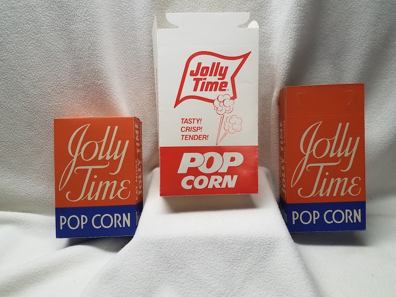 Vintage 1939 JOLLY TIME POP CORN Unused Popcorn Box Country Store Orig