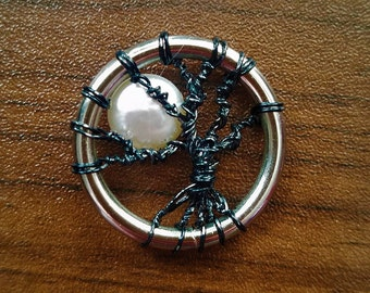 Tree and moon pendant