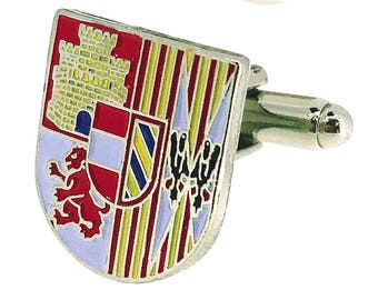 Cufflinks for Shirt Coat of Arms of the Third  from Alejandro de Farnesio the 4th of the Legion