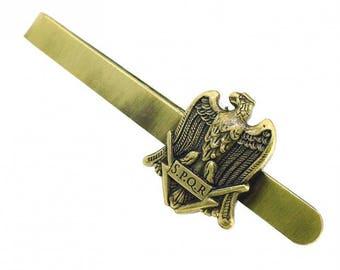 SPQR Eagle Roman Pennant Tie Bar