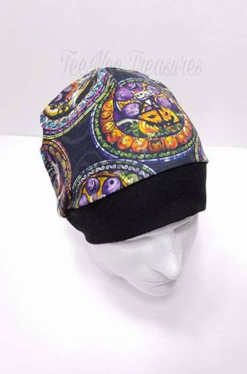82d574b74ccbf Nightmare Before Christmas Beanie   Stained Glass   Chemo Hat