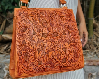 ef39c1f09a83 Tooled leather purse