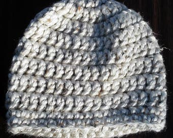 Chunky Crochet Hat - Taupe
