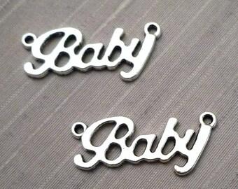"""Lot 5 """"Baby"""" - Silver Metal connectors"""