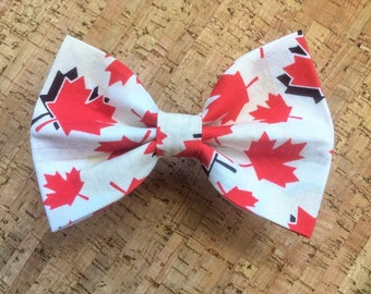 18562afe Canada Day Dog Bow Tie, Maple Leaf Bow Tie, Cat Bow Tie