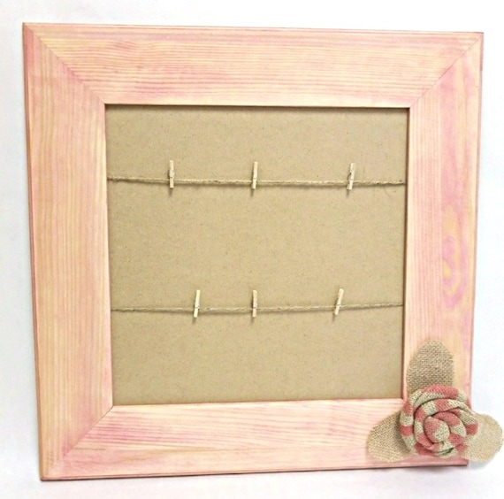 Wall Hanging, Wood Frame, Peach, 17\