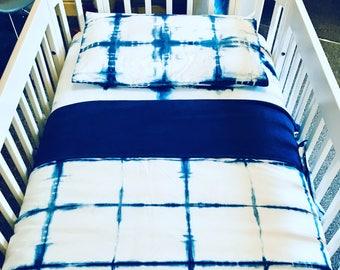 Shibori Cot Bed Duvet Sheet Set