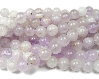 8MM Transparent Light Lavender Amethyst Beads Brazil Grade AA Genuine Natural Gemstone Round Loose Beads 157.5 109756