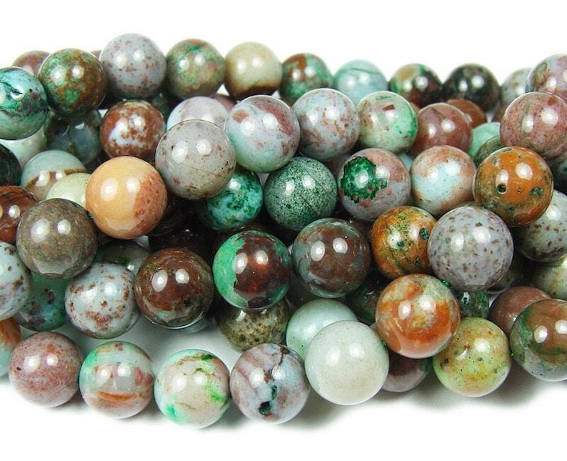 Natural 10mm Australian Eclogite smooth round beads Genuine Gemstone