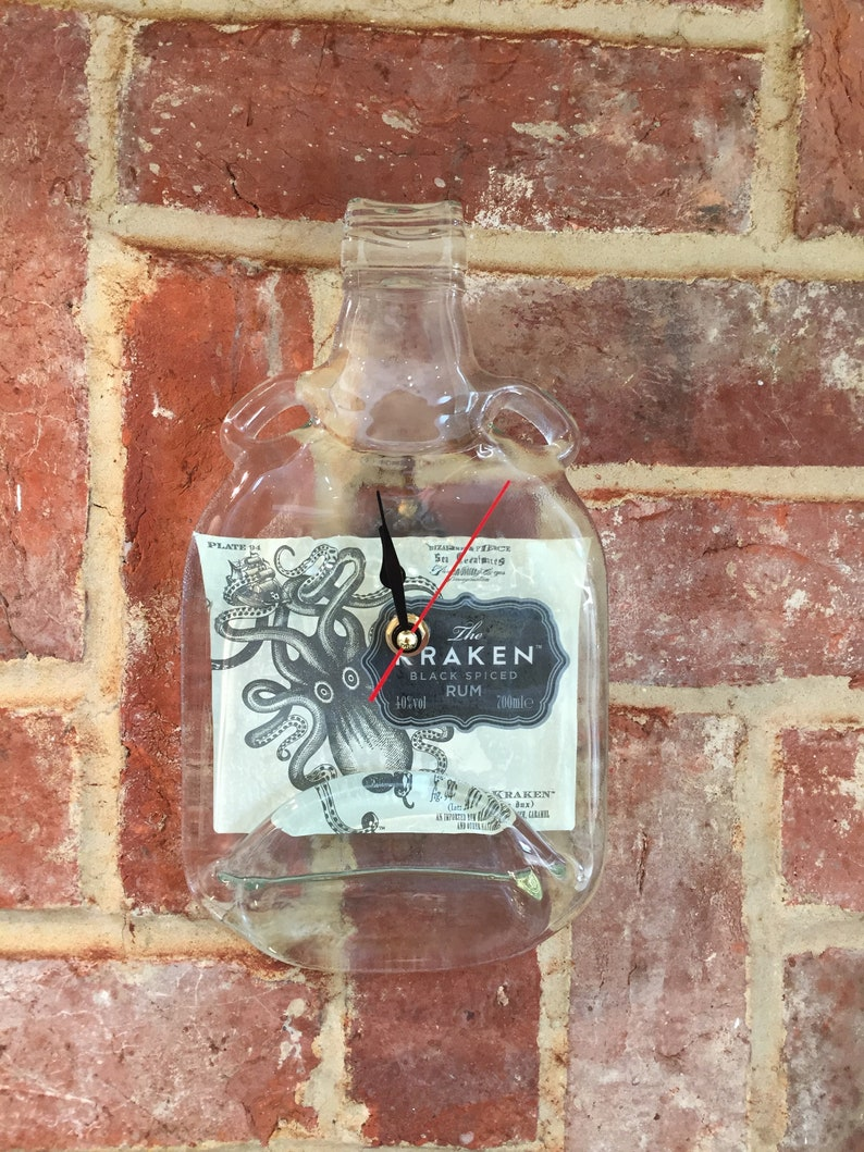 Unique Xmas Gift Kraken Bottle Clock