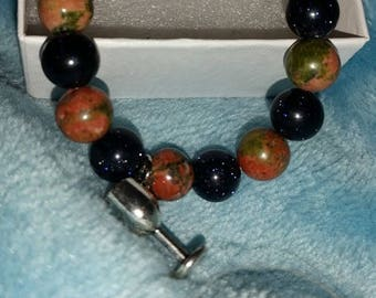 CHARGED Blue Sandstone and Unakite XS bracelet