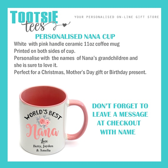 MOTHER/'S DAY BIRTHDAY ANY NAME Personalised THIS NANA IS LOVED BY MUG  CUP