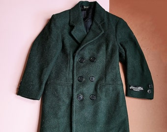 True Vintage Giovanni Bellini Deadstock Children's Racing Green Coat 5-7 Y