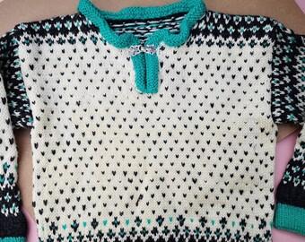 Vintage Kids Trachten Knit Jumper 4-6 Y