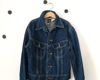 Vintage Kids Lee Riders Blue Denim Jacket 8-10 Y