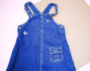 Vintage Kids 90s Classic Denim Dress 2-3 Y